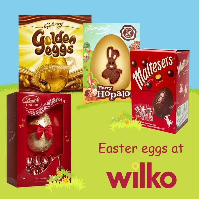 Loads of Easter Eggs half price in Wilko