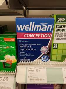 Wellman conception and reproduction 30 tablets 18p instore at Boots - Leicester Humberstone Gate