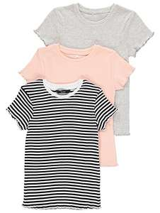 3 pack of girls ribbed t-shirt tops ages from 5 upto 10 yrs now £4 @ Asda