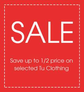 TU sale @ Sainsburys Womens & Childrens live online and instore - mens starts Friday.