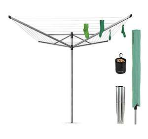 Brabantia Lift-O-Matic Rotary Airer with Accessories, 50m - Silver, £49.99 @ Amazon