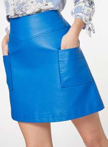 Ladies blue A-line skirt down to  £5 from £18 @ sainsburys online
