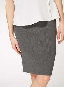 Ladies grey ribbed skirt down to £5 from £18 @ Tu sainsburys online.