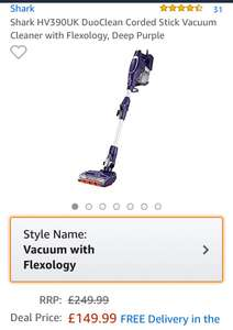 Shark hv390uk dup clean vaccum cleaner - £149.99 @ Amazon