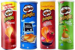 Pringles 165g tubs 4 flavours reduced to 69p also 190g tub Cheese Emmental for 79p   @ Poundstretcher