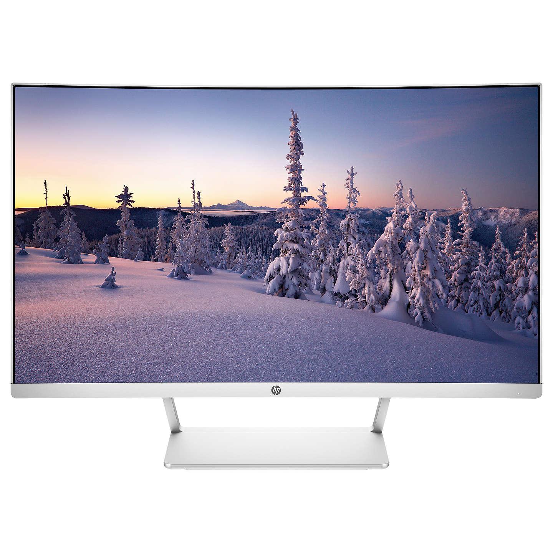 """HP Curved, Full HD, LED Monitor, 27"""", White/Silver model Z4N74AA, £199.95 @ John Lewis"""
