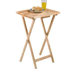 HOME Single Folding Tray Table - Natural - £8.99 @ Argos