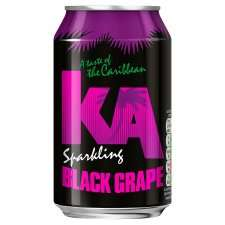 KA Sparkling Black Grape Flavour Drink ONE can is 46p but buy 4 x 330ml for £1.00 @ ASDA