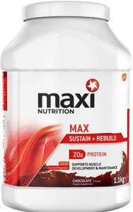 maxi muscle: sustain and rebuild 1.1kg tub for £5 at boots instore