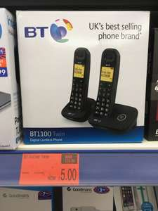 BT1100 Twin Cordless Phone - B&M Instore Only - £5 (Pontefract)