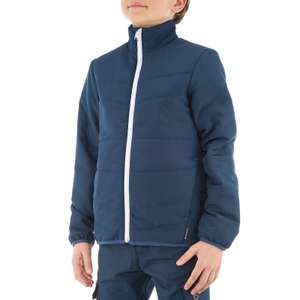 QUECHUA Hike 100 Boys' Hiking Padded Jacket - Navy Blue for £3.49 + Free C&C (reduced from £9.99) @ Decathlon