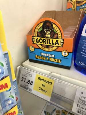 Gorilla Super Glue Brush & Nozzle Reduced to £1.88 @ Tesco Instore