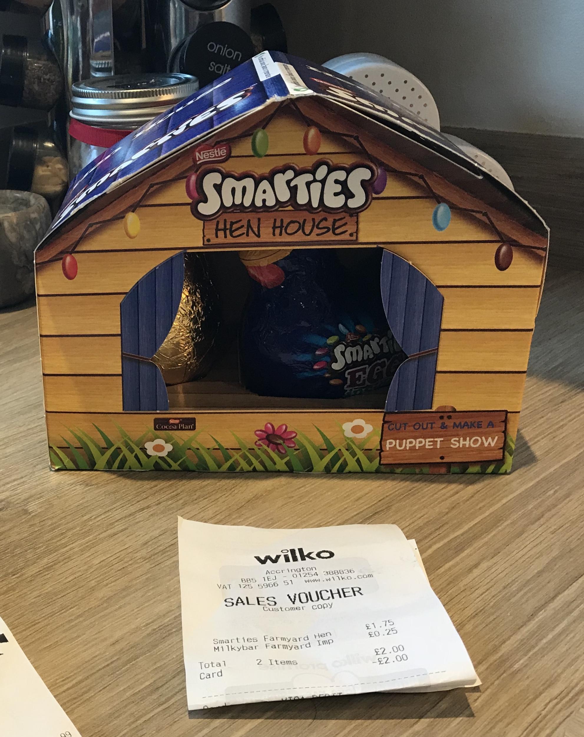 Smarties Easter Farmyard Hen Set £1.75 at Wilko instore