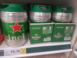 Heineken 5 Litre Draught Keg £9.75 in Tesco, normally £15