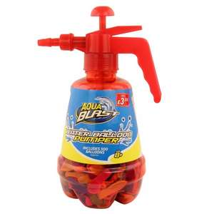 RED WATER BALLOON PUMP WITH 500 BALLOONS @ Poundstretcher - £3.99