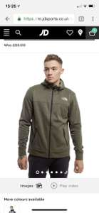 The North Face Mittelegi Full Zip Hoodie £40 @ jdsports online&in-store free c&c