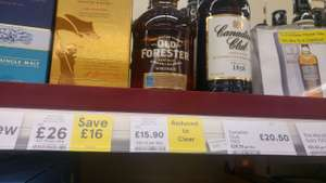 Reduced to clear alcohol instore @ Tesco