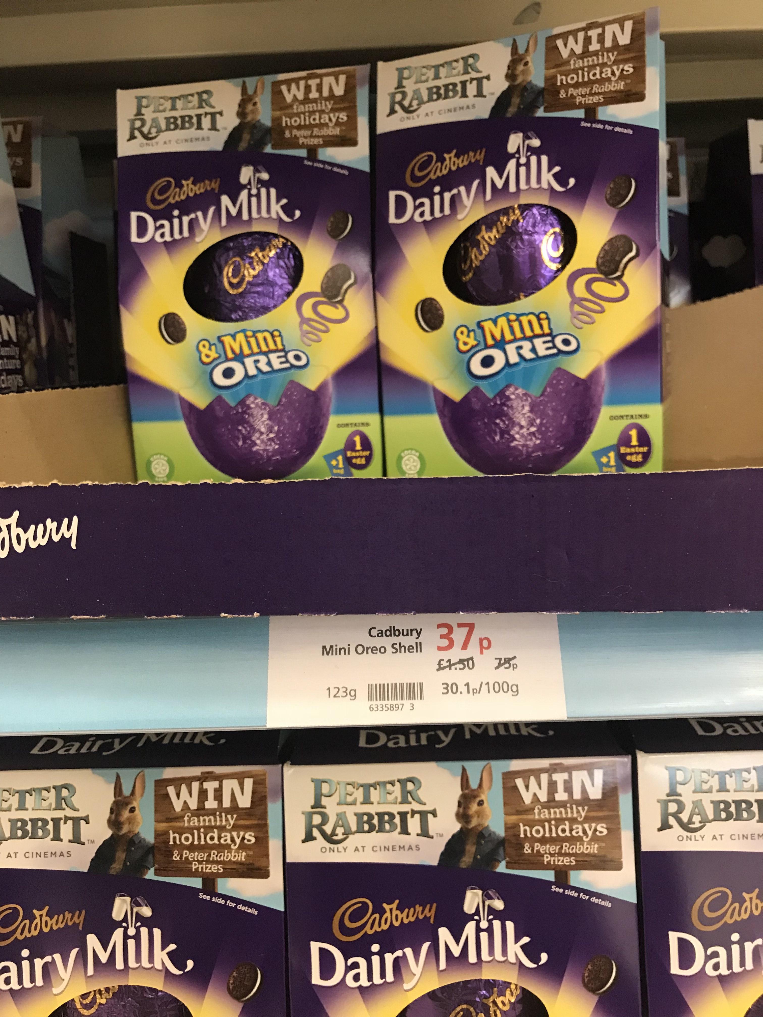 Cadbury's Easter egg 37p instore @ Waitrose