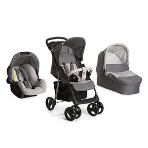 Hauck Shopper SLX Trio Set Lightweight Travel System, from Birth, Grey (Car Seat, Carrycot and Raincover) - £169.95 @ Amazon