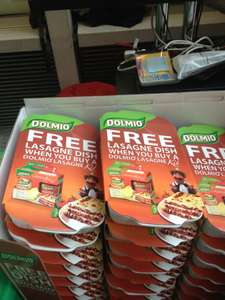 Buy 2 Dolmino Lasagne sauces for £1.99 and get a FREE lasagne dish @ Home Bargains