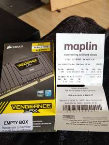 Corsair Vengeance LPX 16GB (2x8GB) DDR4 2400MHz (Maplin In Store) for £129.49