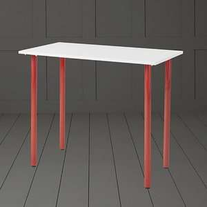 Esme Desk/Table - Choice of White/Red - White/Black - Oak Colour/Silver - £15 @ Tesco Direct