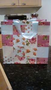 Floral patchwork  reusable shopping bag 45p in-store at Tesco