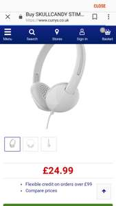Skull candy stim wired headphones at Tesco Direct instore for £6.25