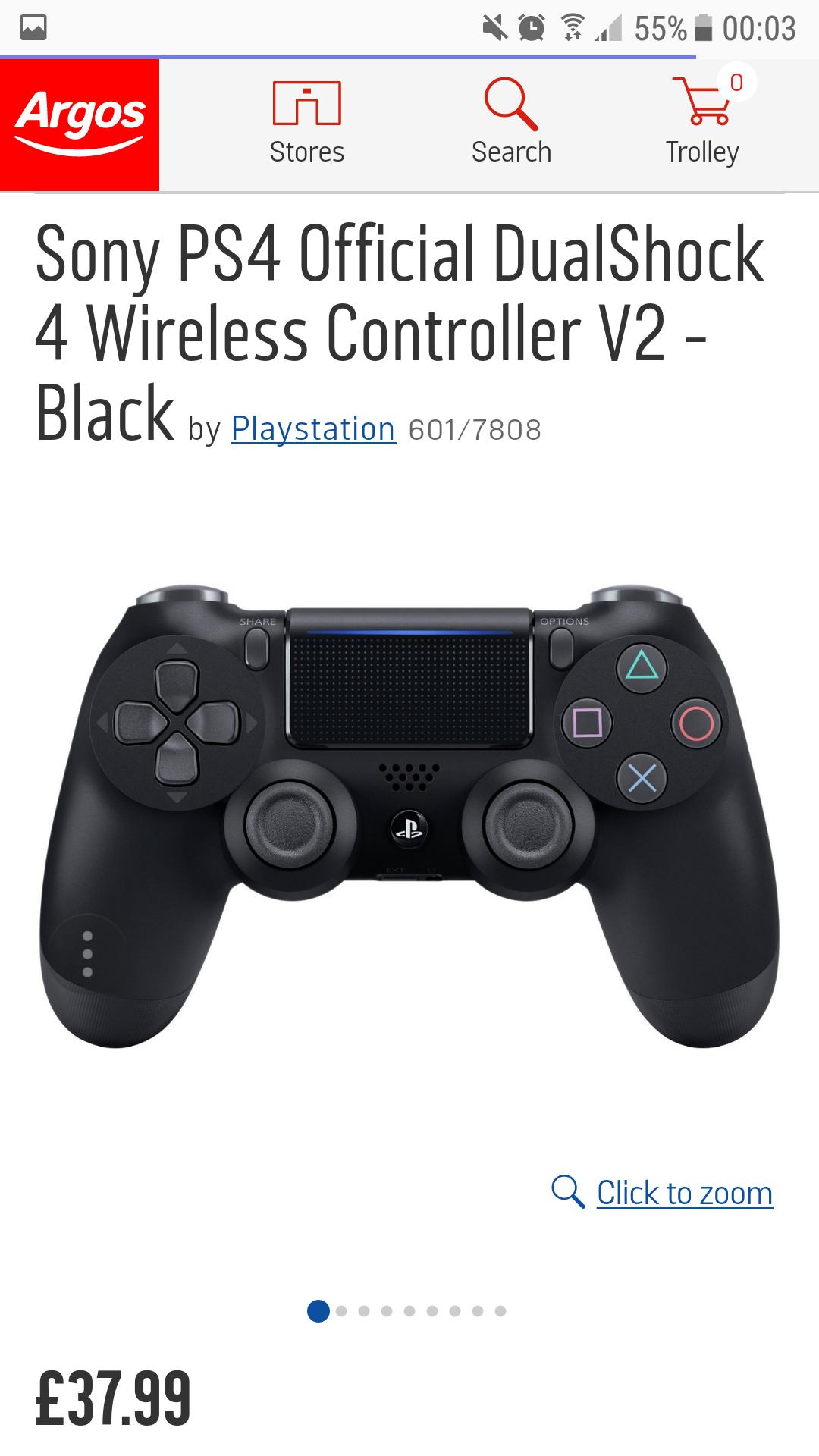 PS4 Dual shock 4 controller £37.99 @ Argos