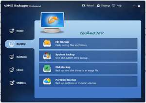 AOMEI Backupper Professional License for Free - backup disk drives or backup system of Windows 10