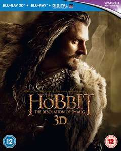 Pre-owned The Hobbit: The Desolation of Smaug - Blu-ray / 3D Edition with 2D Edition + UltraViolet Copy £2.89 at Music Magpie