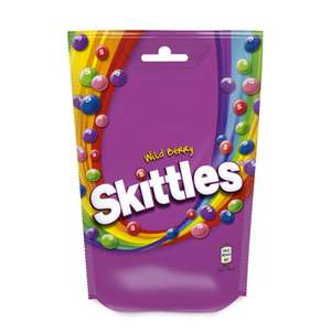 Skittles wildberry pouch bag 152g now 25p @ Poundstretchers