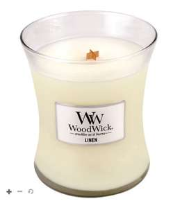 WoodWick Linen Medium Candle £9.50 + Free click and collect at Boots