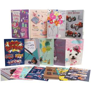 Greeting cards to last you a life time - Box Of 576 Greeting Cards - 12x48 Assorted Designs £49.99 @ The Works