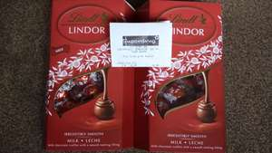 Lindt Lindor 337g £2.49 at Superdrug.