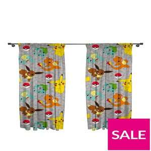 Pokemon Pleated Curtains 168 x 137 cm (66 x 54 inch) was £19 now £12 C+C @ Very