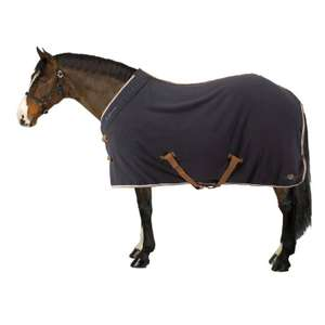 FOUGANZA POLAR 500 HORSE RIDING HORSE/PONY STABLE RUG- DARK GREY @ Decathlon C&C