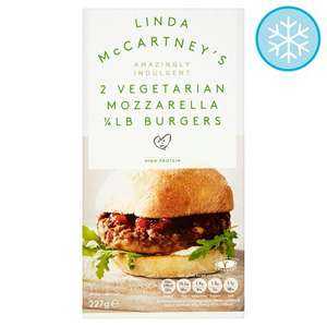 Linda McCartney Mozzarella Quarter Pounder Burger 2 x 113g £1 Tesco