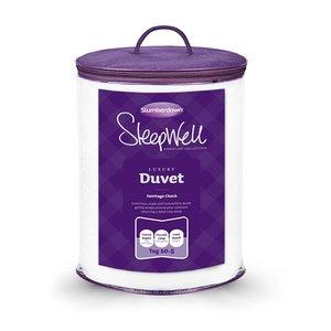 Slumberdown Sleepwell Luxury Heritage Check Duvet 10.5 Tog King £14.99 Delivered at Slumberdown