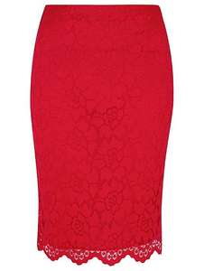 Lace layer red skirt 8,10,12,14,16  now £3 @ Asda