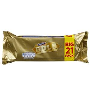 McVities Gold Biscuit Bars 21pk - £1.99 @ B&M