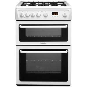 Hotpoint Newstyle HAG60P 60cm Cooker with D/Oven In White (Was £349) now £292.99 delivered w/code @ Co-Op Electrical