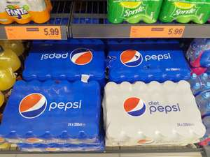 24 cans of Pepsi/Diet Pepsi for £5.99 in Lidl