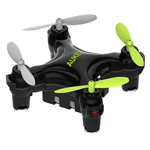 AUKEY One-Key Landing and Take-Off Quadcopter Mini Drone - Black, £9.99 from aukey/amazon prime £12.98 non Prime