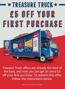 Redeem £5 off First Amazon Treasure Truck Purchase
