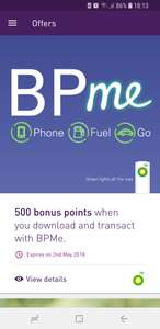 500 bonus Nectar points when you download and transact with BPMe app