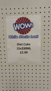 15 Cans of Diet Coke for £2.99 @ B&M Bargains.