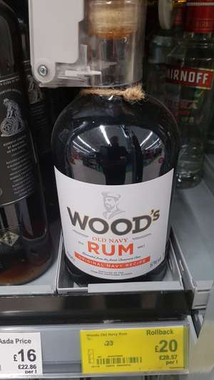 WOOD'S OLD NAVY RUM 57%vol - £20 instore @ Asda (Doncaster)