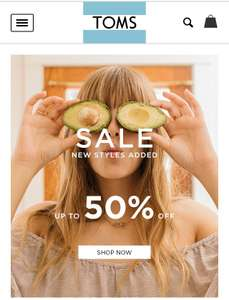 TOMS - 50% sale inc free shipping