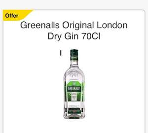 Greenalls Original London Dry Gin 70Cl £12 at tesco